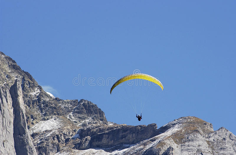 Download Hang Glider Jumping From Swiss Mountain. Stock Photo - Image: 9709166