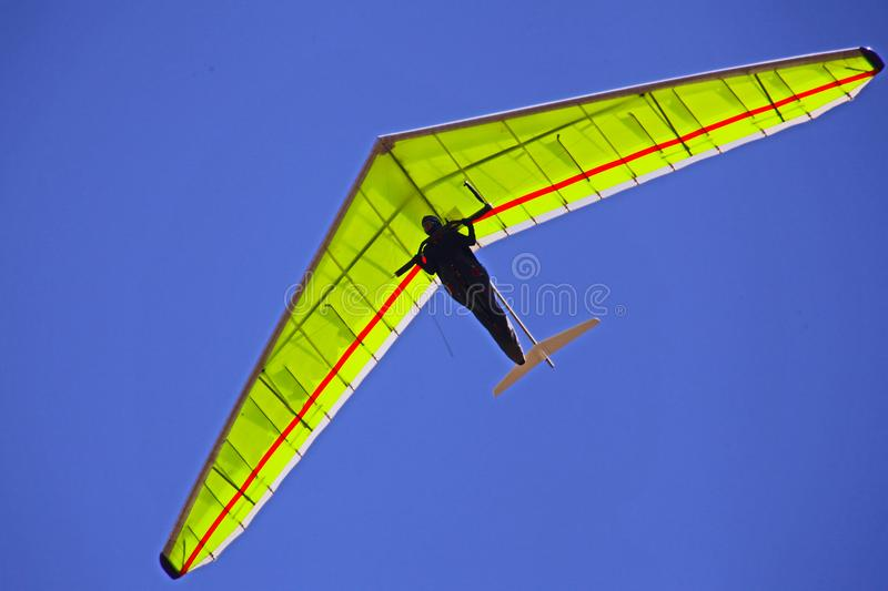 Hang gliding in Crimea taken in summer stock image