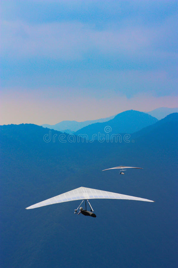 Free Hang Gliding In The Alps Stock Photo - 18535390