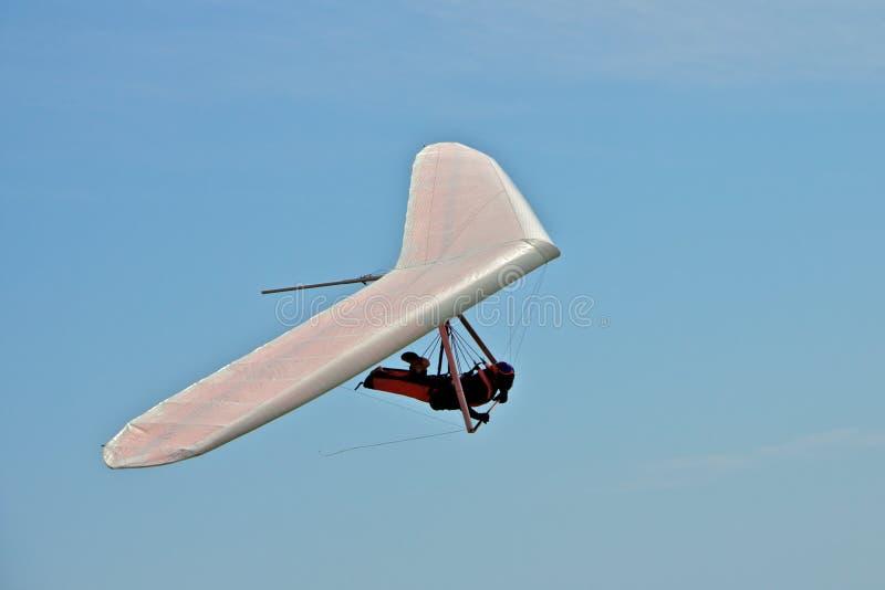 Hang gliding man stock images