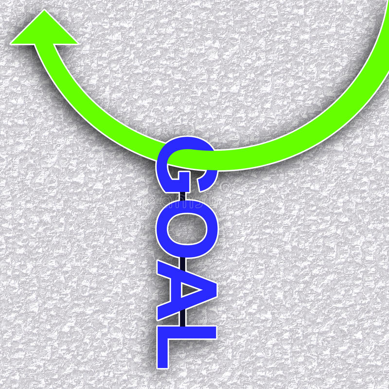 Hang on goal stock illustration