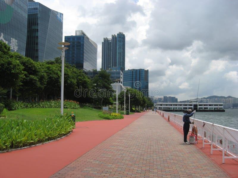 Hang Hom promenad, Hong Kong arkivbilder