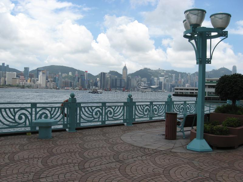 Hang Hom promenad, Hong Kong royaltyfria foton