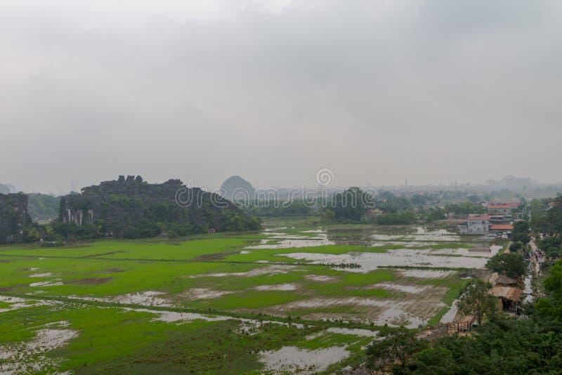 Hang Mua Temple Ninh Binh landskap, mummel Noi Vietnam Dec 2018 arkivfoto