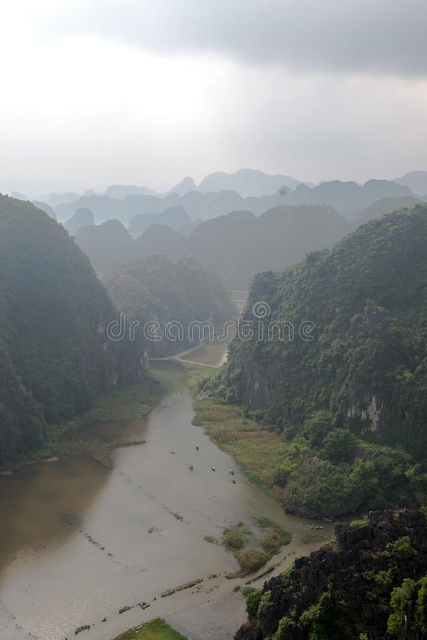 Hang Mua Temple Ninh Binh Province, Ha Noi Vietnam Dec 2018. Hang Mua Temple Ninh Binh Province, Ha Noi Vietnam stock photo