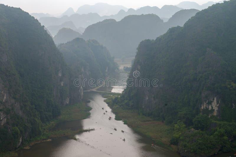 Hang Mua Temple Ninh Binh Province, Ha Noi Vietnam Dec 2018 stock photo