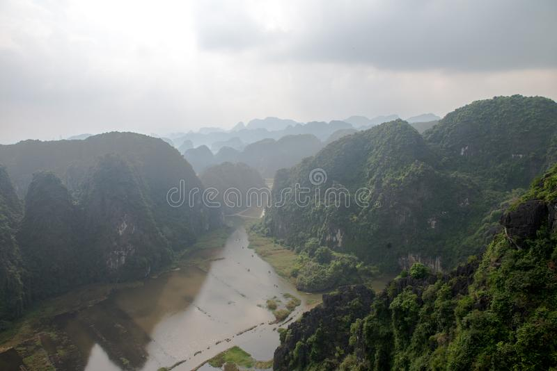 Hang Mua Temple Ninh Binh Province, Ha Noi Vietnam Dec 2018 stock image