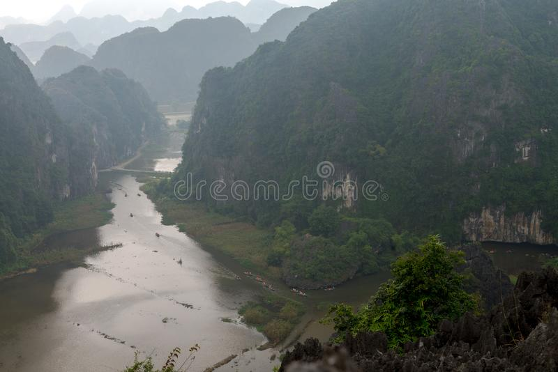 Hang Mua Temple Ninh Binh-Provinz, ha Noi Vietnam Dec 2018 stockfotos