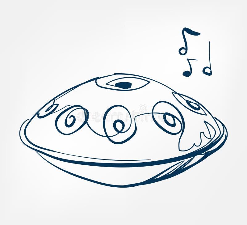 Hang sketch line vector design music instrument vector illustration