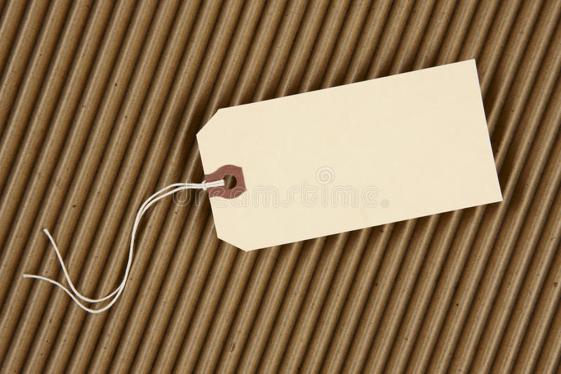 Download Hang tag stock image. Image of single, empty, corrugated - 12197219