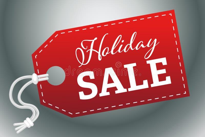 Hang Tag Holiday Sale Vector illustration 1 vektor illustrationer
