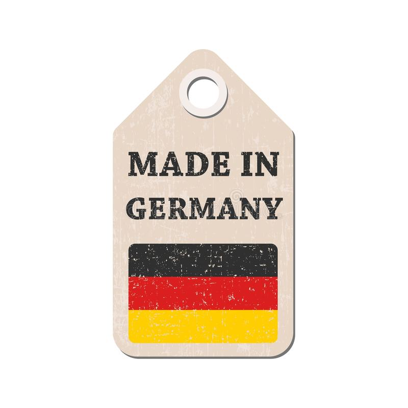 Hang tag made in Germany with flag. vector illustration