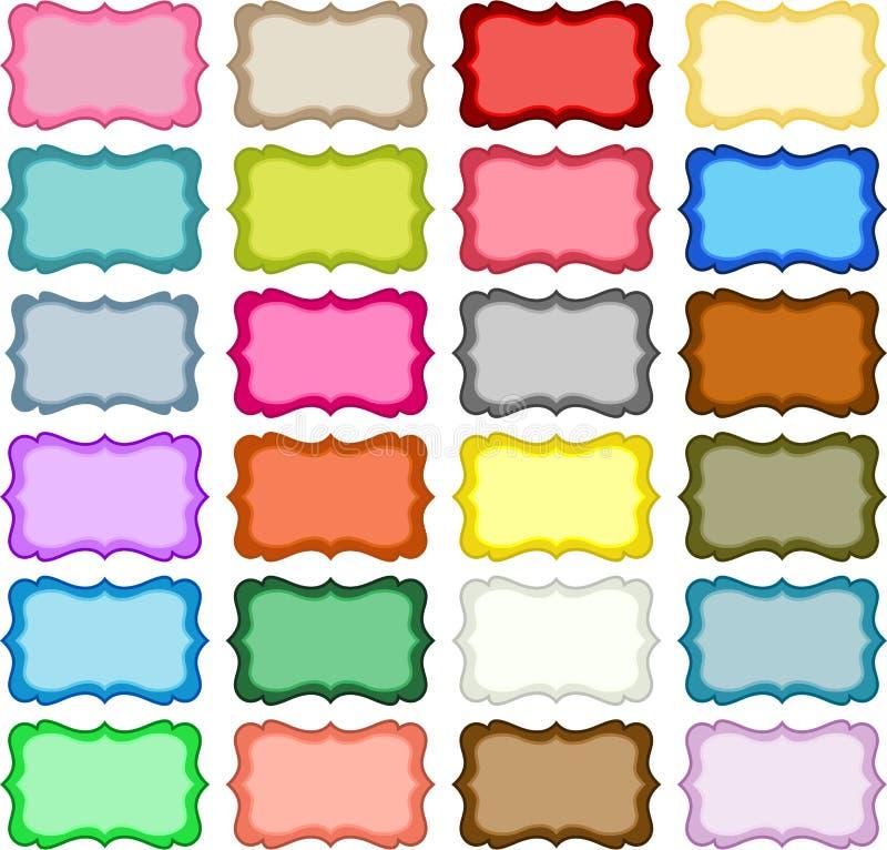 Hang Tags colorido ilustração stock