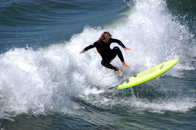 Hang ten stock photography