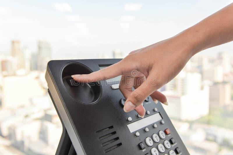 Hang up the phone call royalty free stock photos