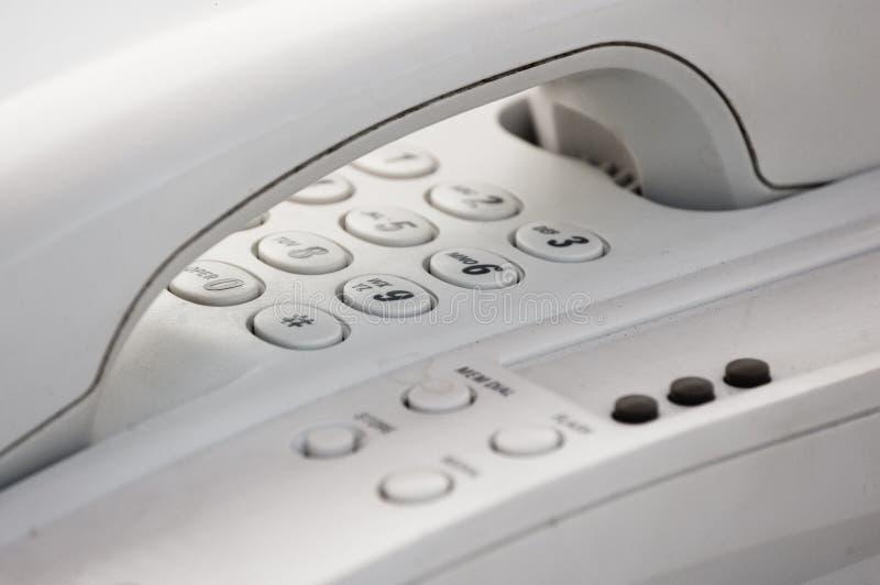Hang-up, primo piano del telefono fotografia stock libera da diritti