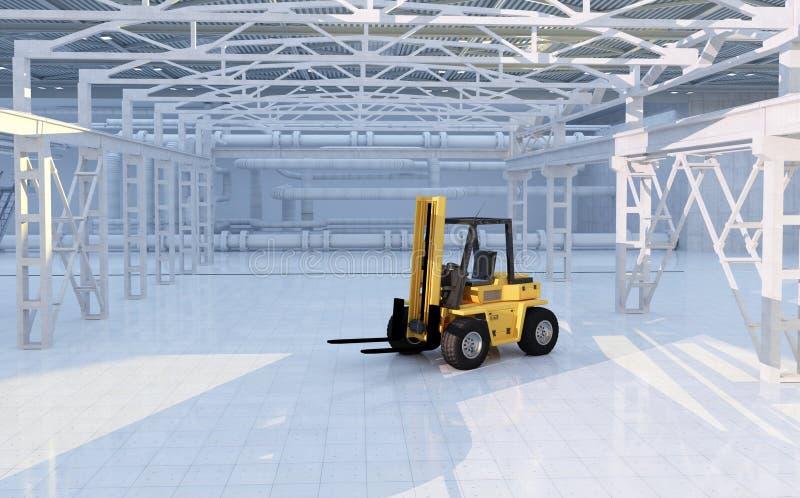 hangar illustration de vecteur