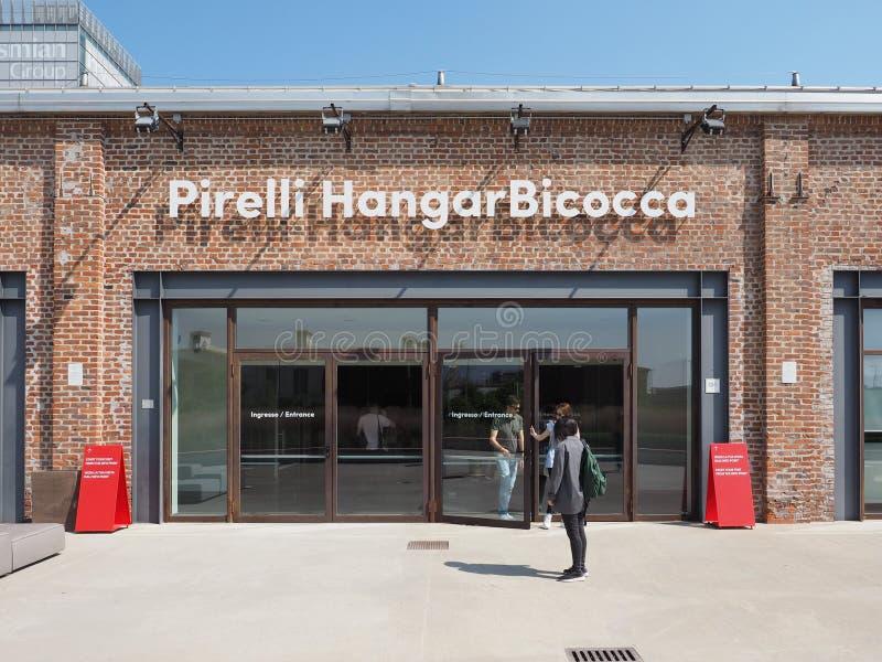 Hangar Bicocca w Mediolan obrazy royalty free