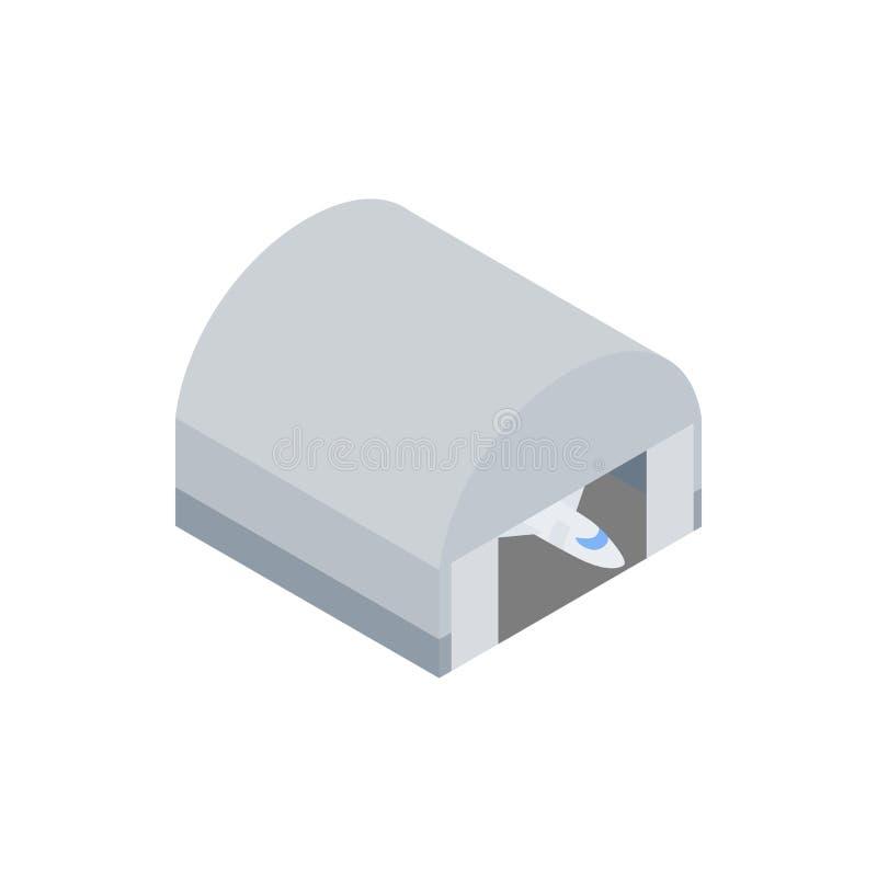 Hangar building icon, isometric 3d icon stock illustration