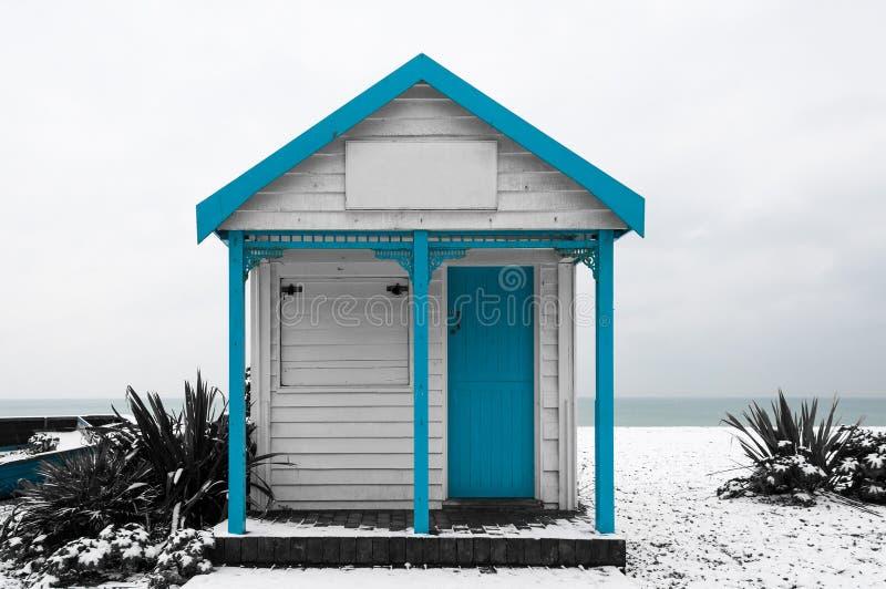 Hangar de blanc et de bleu photo libre de droits
