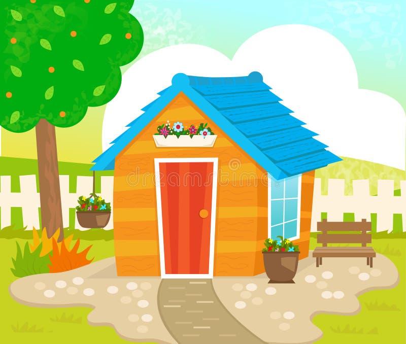 Hangar de jardin illustration stock