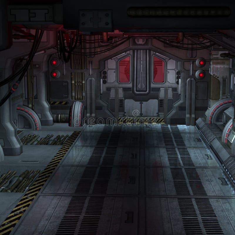 Hangar de l'espace illustration stock