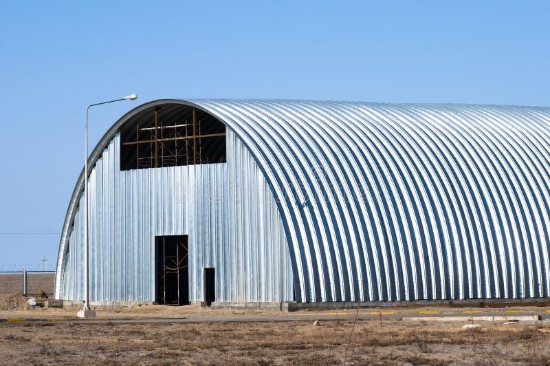 Hangar do armazém fotografia de stock
