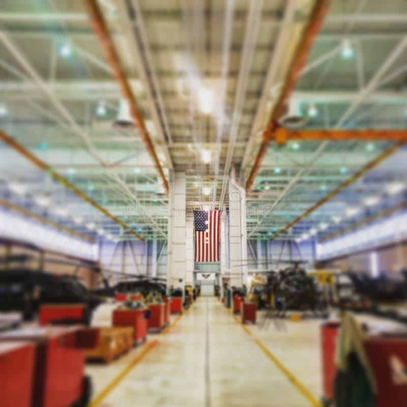 Hangar do exército imagens de stock royalty free