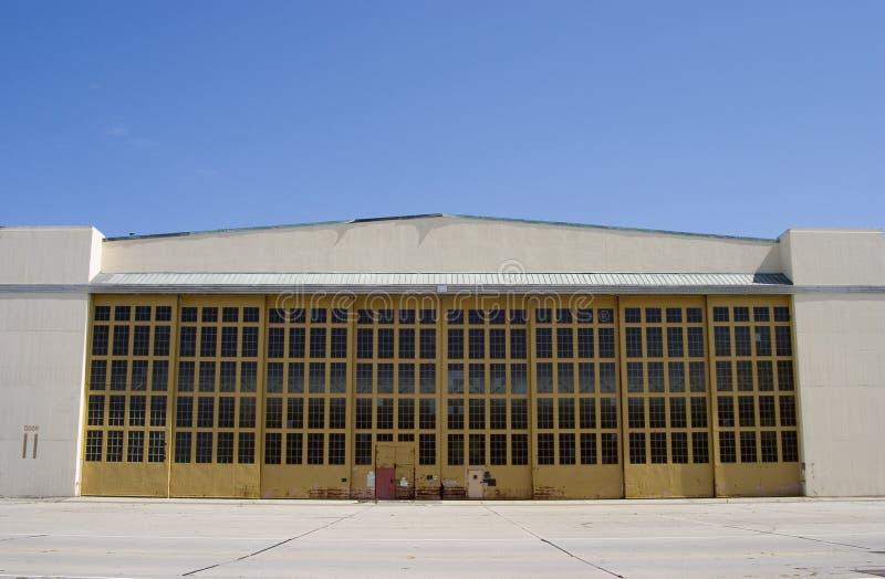 Hangar géant d'avion photo stock
