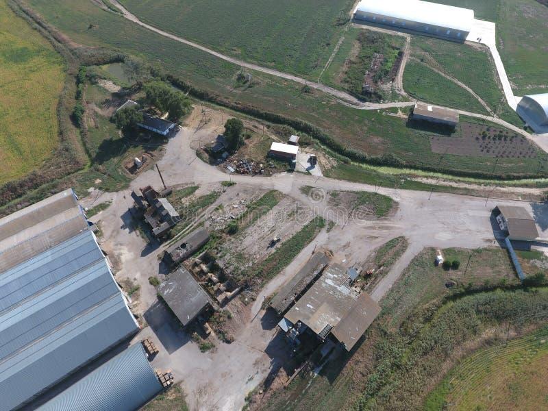 Hangar galwanizujący metali prześcieradła dla magazynu produkty rolni obraz stock