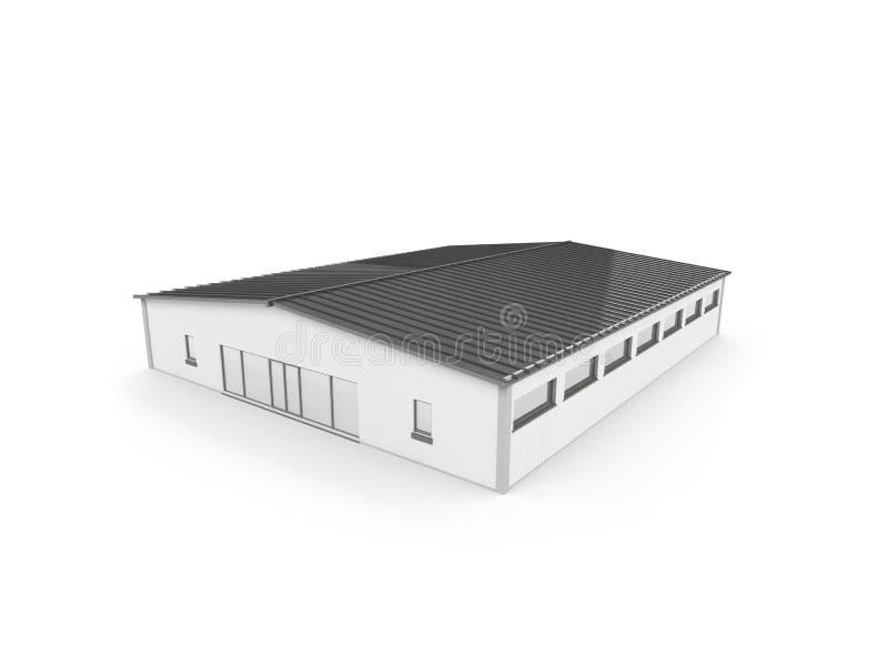 Hangar grande sobre o branco ilustração do vetor