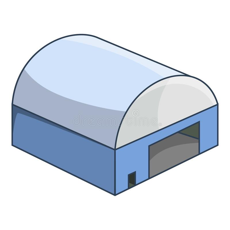 Hangar icon, cartoon style. Hangar icon. Cartoon illustration of hangar icon for web royalty free illustration