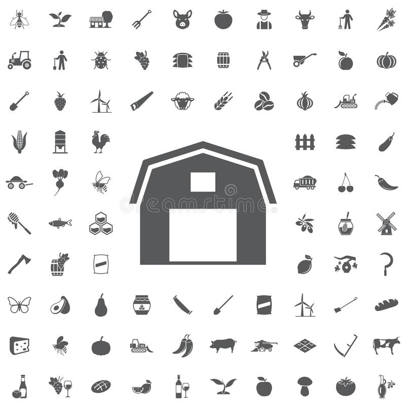 Hangar Icon stock illustration