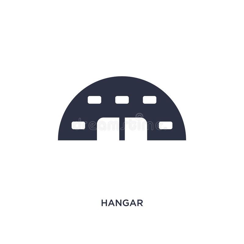hangar icon on white background. Simple element illustration from airport terminal concept stock illustration