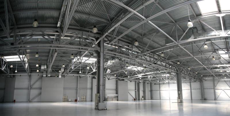 hangar panoramy magazyn zdjęcie royalty free