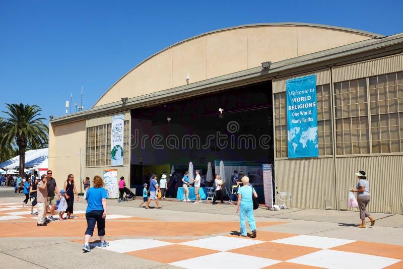 Hangar przy orange countego Wielkim parkiem obraz royalty free