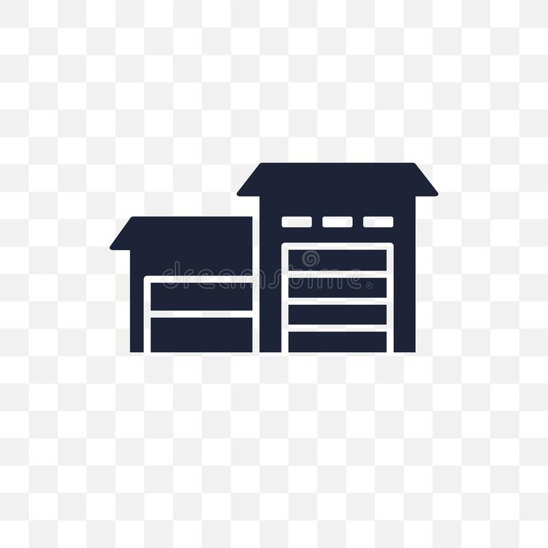 Hangar transparent icon. Hangar symbol design from Delivery and royalty free illustration