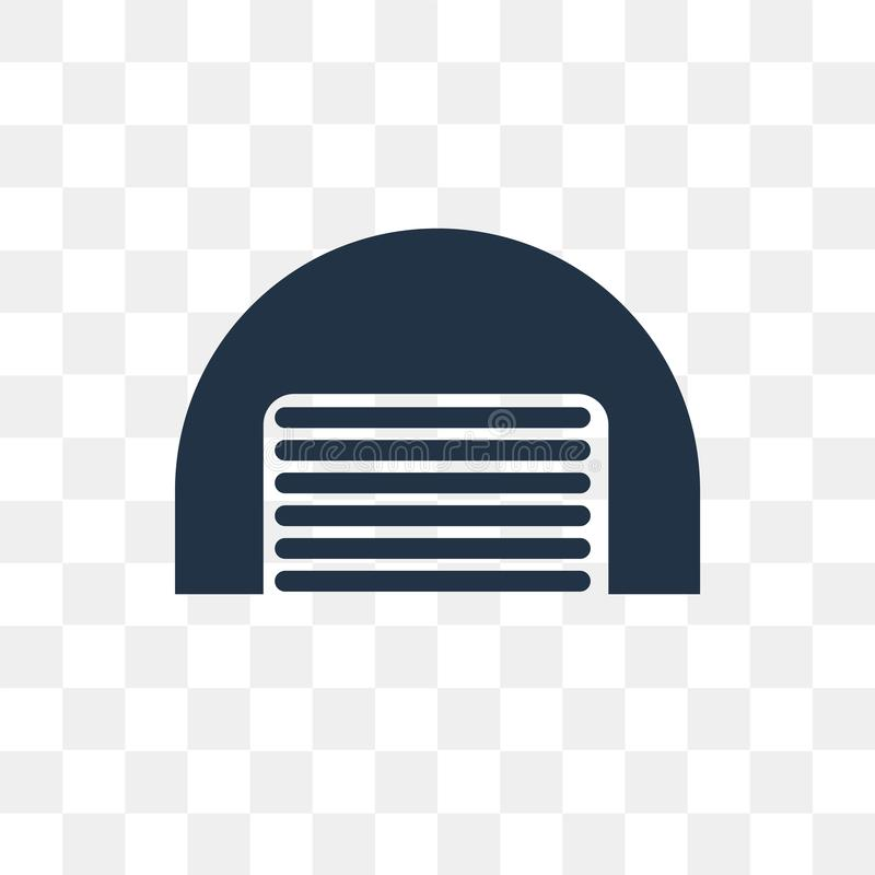 Hangar vector icon isolated on transparent background, Hangar t. Ransparency concept can be used web and mobile, Hangar icon stock illustration
