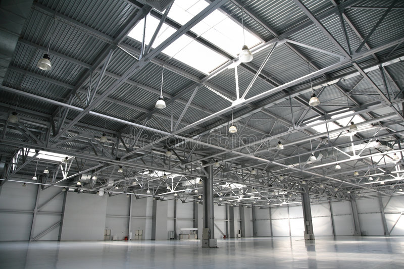 Hangar warehouse royalty free stock images