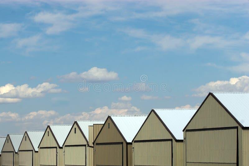 Hangars stock photography