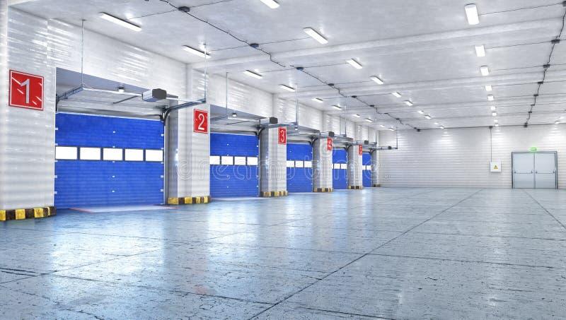 Hangaru wnętrze z bramami obrazy stock