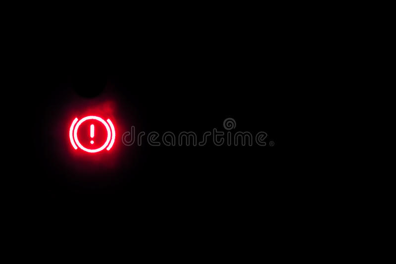 Hangbreak warning light showing on a background royalty free stock photos