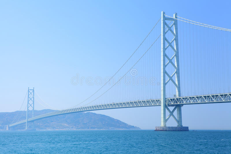 Hangbrug in Kobe royalty-vrije stock foto