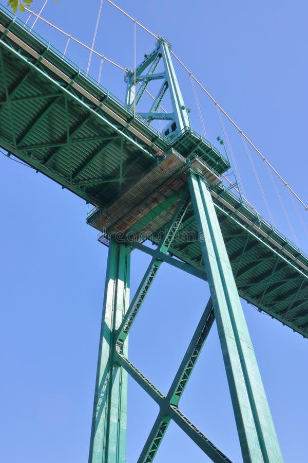 Hangbruginfrastructuur royalty-vrije stock foto's