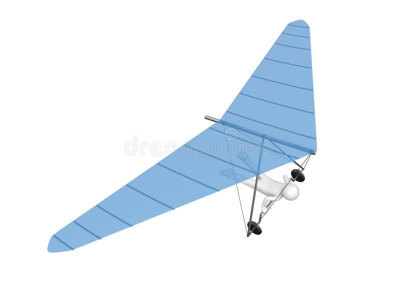 Hangen-zweefvliegtuig - Sporten stock illustratie