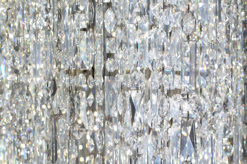 Hangend Crystal Curtain stock foto