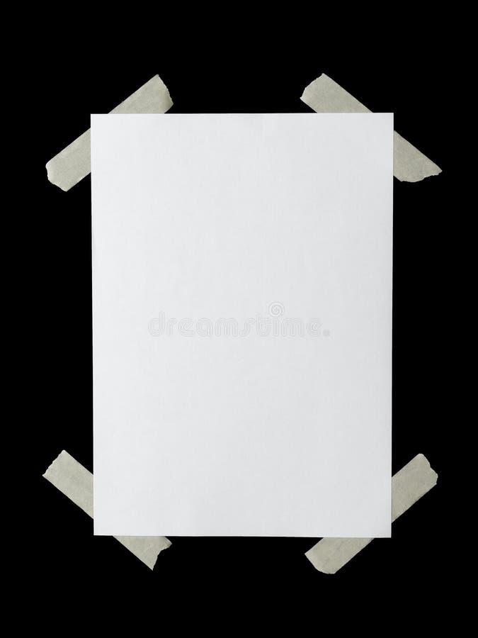 Hangend document stock fotografie