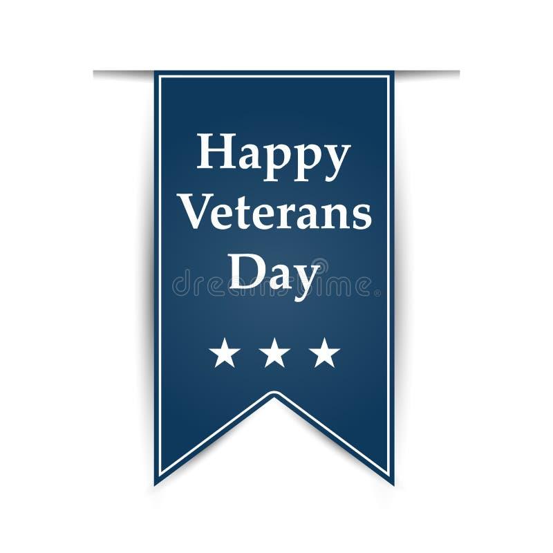 Hangend lint op de dag van de veteranen van Amerika stock illustratie