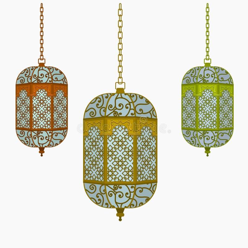 Hangende Arabische Lantaarn stock illustratie