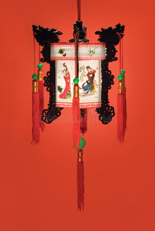 Hangende Chinese Lantaarn stock foto's